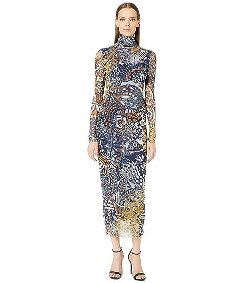 FUZZI Long Sleeve Mystical T-Neck Dress