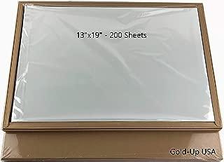 13'' x 19'' Waterproof Inkjet Transparency Film for Silk Screen Printing - 2 Pack (200 Sheets)