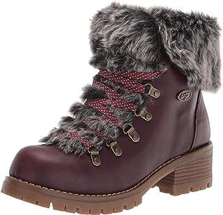 Lugz Women's Adore Fur Classic Chukka Fashion Boot, Wine/Gum, 9.5, M