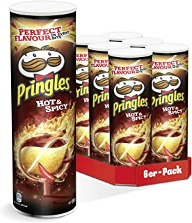 Pringles Hot & Spicy Chips | 6er Party-Pack 6 x 200g