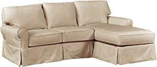 Stone & Beam Carrigan Modern Chaise Sofa Couch with Slipcover, 95