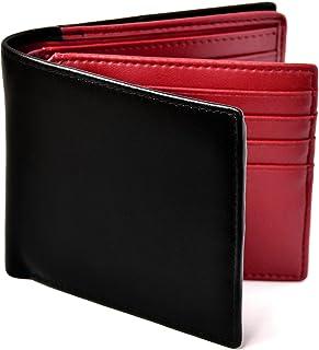 [Le sourire] 二つ折り 財布 カード18枚収納 ボックス型小銭入れ 本革 メンズ