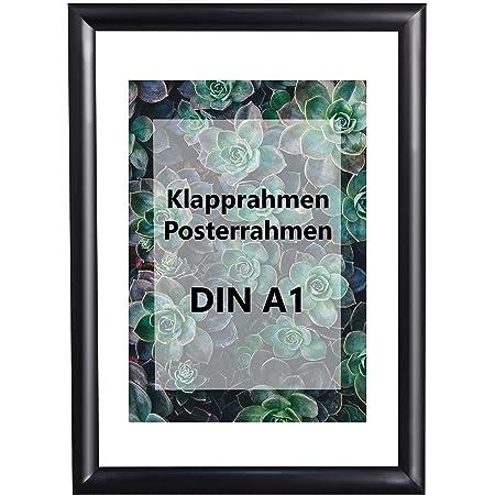 624 x 872 mm DIN A1Alu Klapprahmen schwarz Wechselrahmen