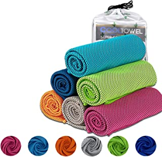 [6+1 Pack] Cooling Towels Neck Wrap 37 x12 Inches,Super Breathable Chilly Towels for Instant Cooling,Fast Drying Mesh Clot...