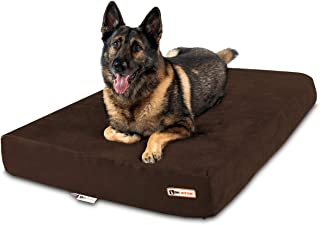"""Big Barker 7"""" Pillow Top Orthopedic Dog Bed - XL Size - 52 X 36 X 7 - Chocolate - for Large and Extra Large Breed Dogs (Sl..."""