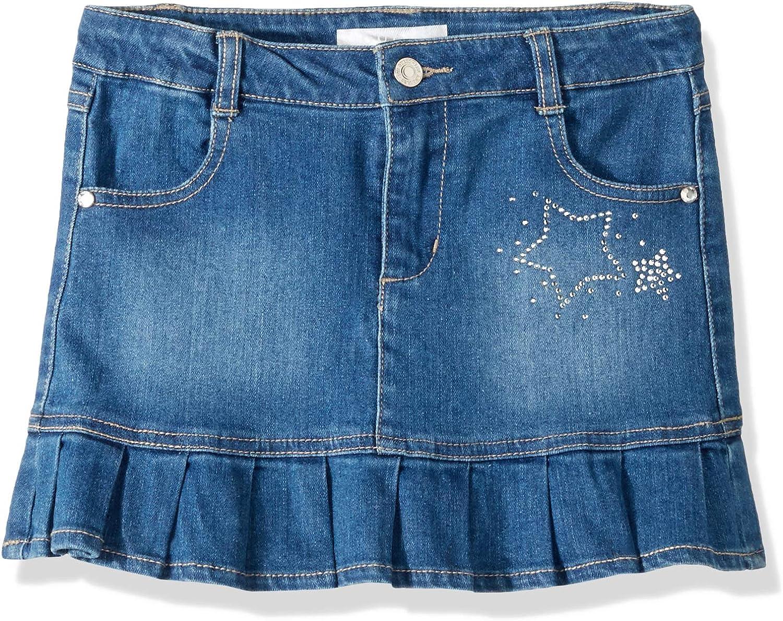 Grandwish Little Girls Solid Color Denim Skort 2T-8T