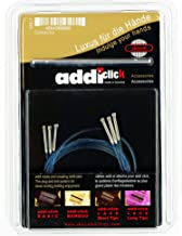 addi Knitting Needle Click Turbo Basic Set Interchangeable Skacel Exclusive Blue Cord with Connector 1 ea of 24/32/40 inch (60/80/100 cm)