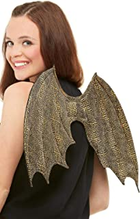 Smiffys Dragon Scale Wings, 50 cm Length, Gold