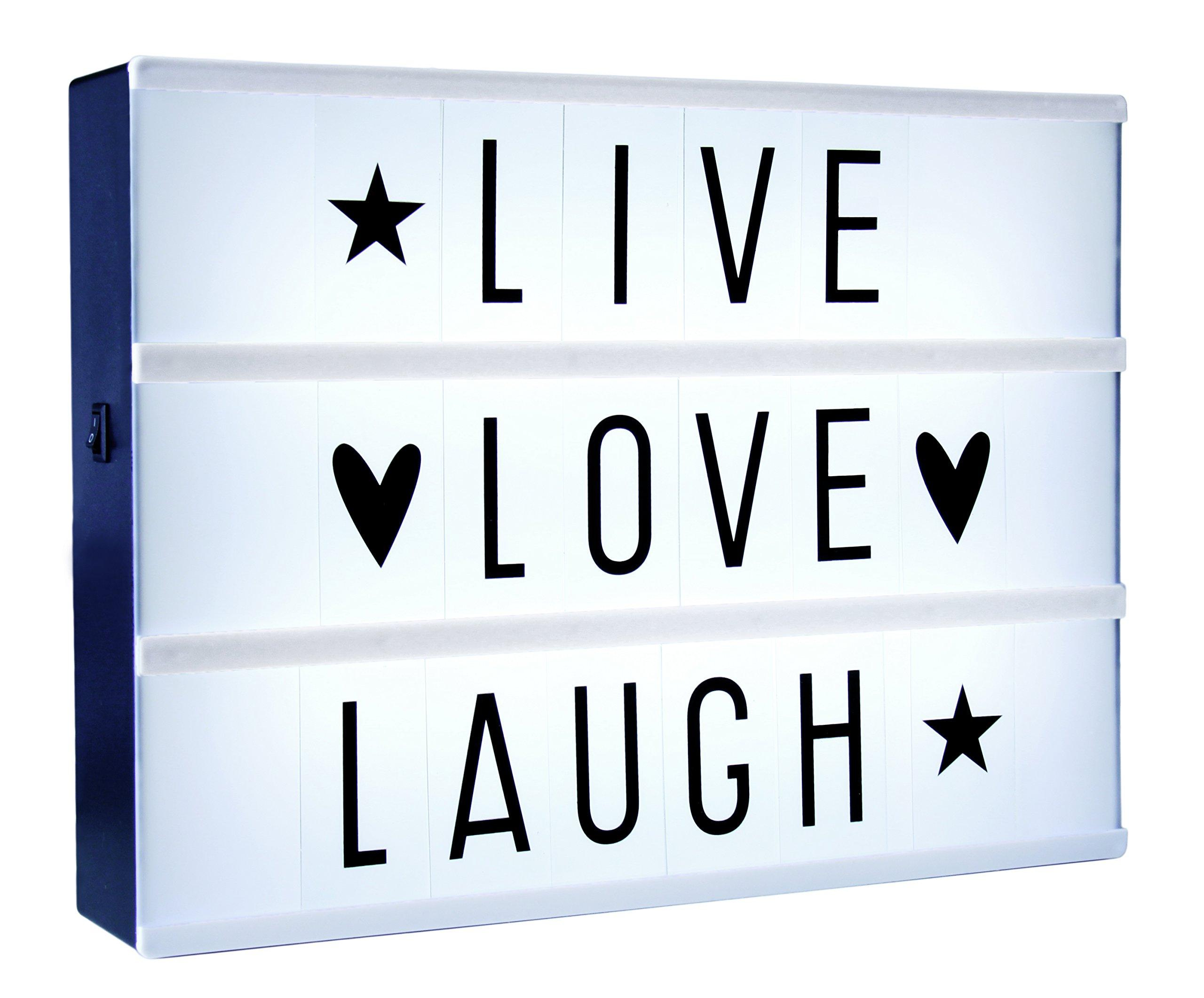 Lámpara decorativa de caja de luz A4 personalizable, caja de cine: Amazon.es: Iluminación
