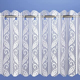 Filigree Lace Net Voile Louvre Vertical Pleated Window Blind Panel Curtain 72