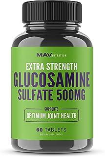 MAV Nutrition Glucosamine Sulfate + Potassium Supplement for Back Pain & Anti-Inflammatory, Non-GMO, Vegetarian Friendly, ...