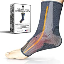Ankle Brace Compression Sleeve   Arch Support   Foot Sock for Injury Recovery, Joint Pain, Swelling, Achilles Tendon   Pain Relief from Heel Spurs, Plantar Fasciitis   Breathable   Women & Men - S