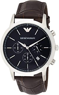 Emporio Armani Men's Watch Ar2494, Brown Band, Chronograph Display