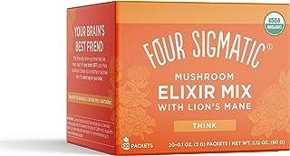 Four Sigmatic Lion's Mane Mushroom Elixir, Organic Lion's Mane Mushroom Powder with Rhodiola & Rose Hips, Immune & Memory ...