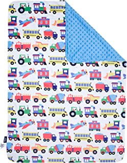 Wildkin Plush Throw Blanket for Toddler Boys and Girls, Perfect Size for Daycare and Ideal for Travel, Super Soft Throw Blankets Measures 39.5 x 28 x 0.5 Inches, Olive Kids (Trains, Planes and Trucks)