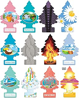 Little Trees Home and Car Air Fresheners 12 Pack Vacation Pack Ultra Rare Scents
