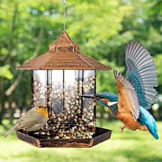 Bird Feeders for Outside, Bird Feeders Squirrel Proof for Outside, Heavy Duty Hanging Bird Feeder Large Capacity for Garde...