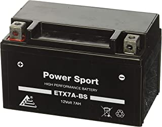 ExpertPower ETX7A-BS 12v7ah YTX7A-BS, GTX7A 32X7A 44023 CTX7A, GTX7ABS Star 50CC Moped Scooter 12V 7AH Replacement Power Sports Battery