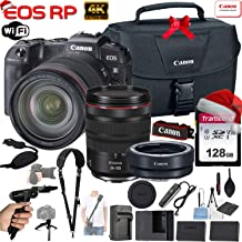 $1999 » Canon EOS RP 26.2MP Full-Frame Mirrorless Digital Camera with RF 24-105mm f/4L is USM Lens & Canon EF-EOS R Mount Adapter + 128GB Memory Card, Canon 100-Es Case, Shoulder Strap, Tripod and More
