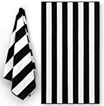 Luxury Large Beach Towel Extra Soft 40 x 72 inch Prime Yacht Classic Cabana Stripe Hotel Pool & Resort Style Double Terry ...