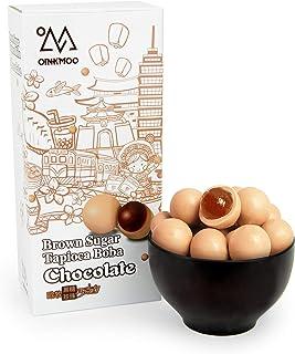 Oinkmoo Brown Sugar Tapioca Boba Chocolate Candy - 30 Piece Individually Wrapped Chocolate Milk Tea Coated Tapioca Pearls