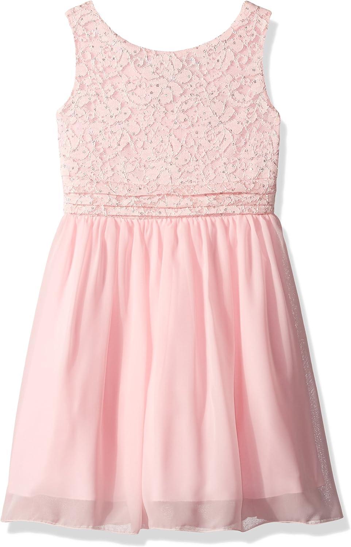 Speechless Girls' Glitter Dot Comberband Chiffon Dress