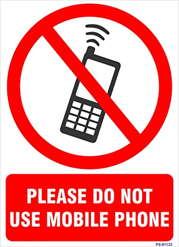 SignageShop Ps-81133 Vinyl Please Do Not Use Mobile Phone Sign