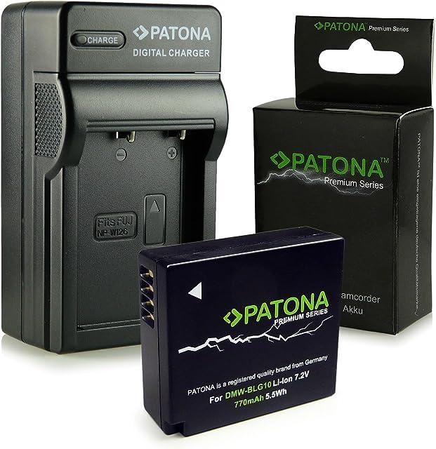 PATONA 3en1 Cargador + Premium Batería DMW-BLG10 compatible con Panasonic Lumix DMC-GF3 DMC-GF5 DMC-GF6 DMC-GX7 DMC-LX100 DMC-S6