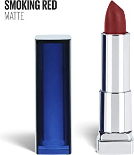 Maybelline New York Color Sensational Red Lipstick Matte Lipstick, Smoking Red, 0.15 Ounce, 1 Count