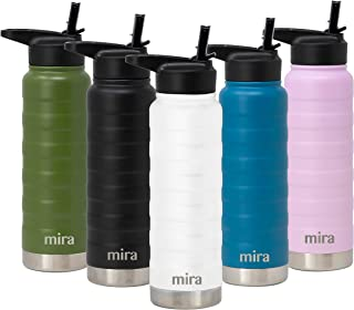 MIRA 25 Oz Stainless Steel Vacuum Insulated Ridge Water Bottle | Double Walled Thermos Flask | 24 Hours Cold, 12 Hours Hot...
