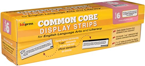 GR 6 COMMON CORE DISPLAY STRIPS ELA
