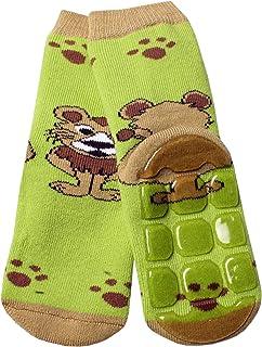 Weri Spezials, Calcetines para bebés y niños con diseño de león en 5 colores fantásticos, suela antideslizante de ABS para niños y niñas, antideslizantes.