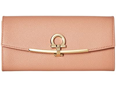 Salvatore Ferragamo Icona Continental Wallet (New Blush) Wallet Handbags