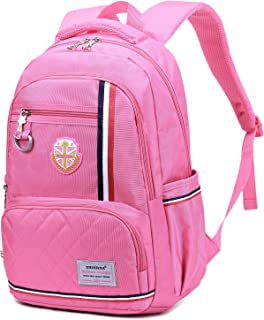 Goldwheat School Backpack Bag Student Bookbags Outdoor Casual Daypack Pink Pink Small Large