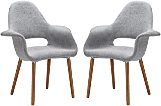 Poly and Bark Barclay Dining Chair in Light Grey (Set of 2)