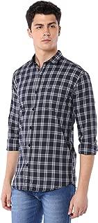 Men Cotton Casual Check Shirt