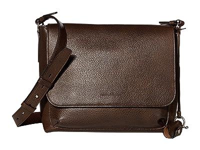 Salvatore Ferragamo Tornabuoni Messenger Bag 24A455 (Carob) Messenger Bags