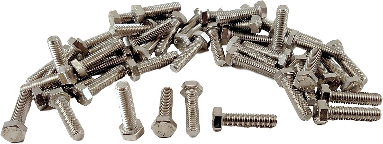 Grade 8 5//16-18x4 Hex Head Cap Screws 5//16-18 x 4 Hex Head Bolts 50pcs 3//4 To 4 Lengths in Listing