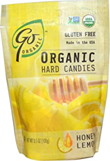 Go Naturally, Organic Hard Candies, Honey Lemon, 3.5 oz (100 g) - 2pcs