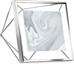 Umbra Moldura Prisma, tela de foto 10 x 10 para mesa ou parede, cromada