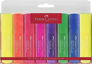 Faber-Castell 154662 Şeffaf Gövde Fosforlu Kalem, 7+1'Li Poşet 7 Renk