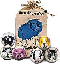 Wool Dryer Balls XL 100% Organic New Zealand Sheep's Wool Fabric Softener – Lamb Love