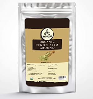 Naturevibe Botanicals Fennel Seed Ground Powder 1lb - Organic Foeniculum Vulgare…
