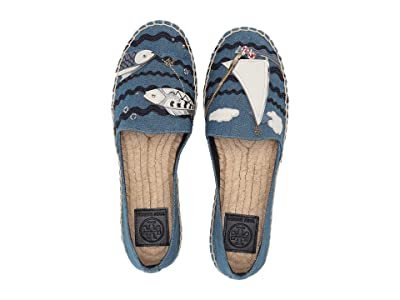 Tory Burch Seafaring Espadrille (Denim Chambray/Multi Multi) Women