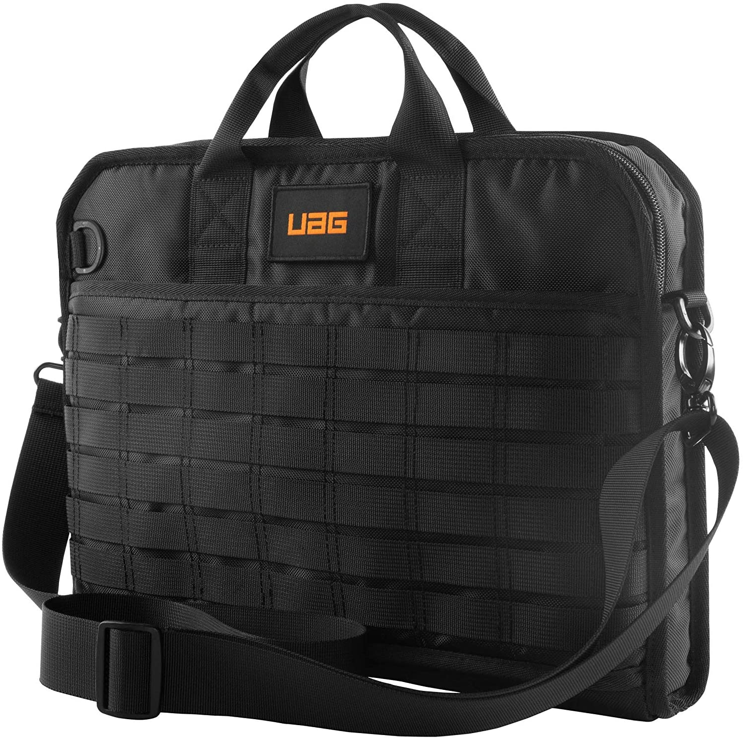 URBAN ARMOR GEAR UAG Tactical 13-inch Slim Brief, fits Most Devices up to 13-inch to 14-inch, Rugged Protective Slim Secure Laptop Tablet Carrying Bag with Shoulder Strap, Black
