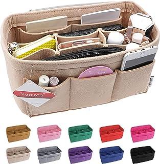 Vercord Felt Handbag Insert Organizer Purse Pocketbook Tote Bag Liner Shaper Inside Multiple Color Size