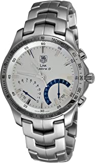 TAG Heuer Men's CJF7111.BA0592 Link Calibre S Chronograph Silver Dial Watch