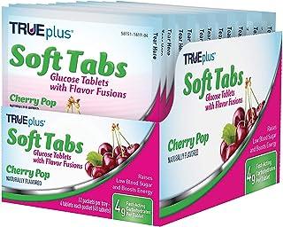 TRUEplus® Soft Tabs Glucose Tablets - 12 Packs - 48 tabs (Cherry Pop)