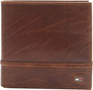 Tommy Hilfiger Men's RFID Blocking 100% Leather Passcase Bifold Wallet,