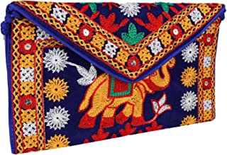 Ethnic Embroidered Hadmade Banjara foldover Clutch Purse-Sling Bag-Cross Body Bag